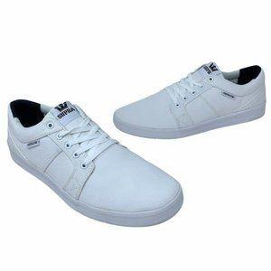 Supra Mens Ineto Skate Shoes White 08054-101 New